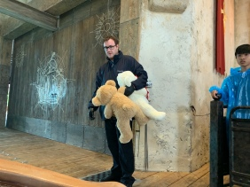 Asking staff to hold bears